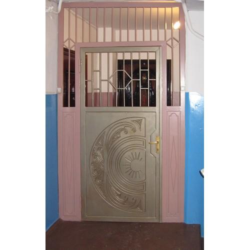 Тамбурная дверь решетчатая  ДБС 8-15