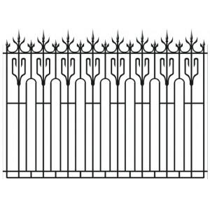 Забор кованный № 4