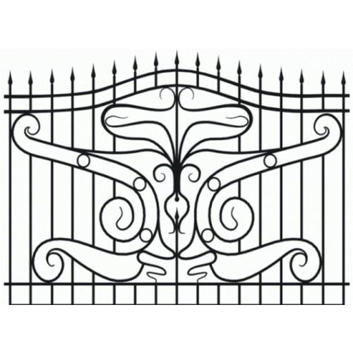 Забор кованный № 9